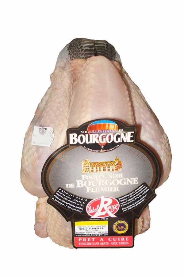 Poulet fermier noir de Bourgogne